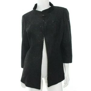 CHANEL Uniform Tweed Sequin Jacket Blazer Employee Career